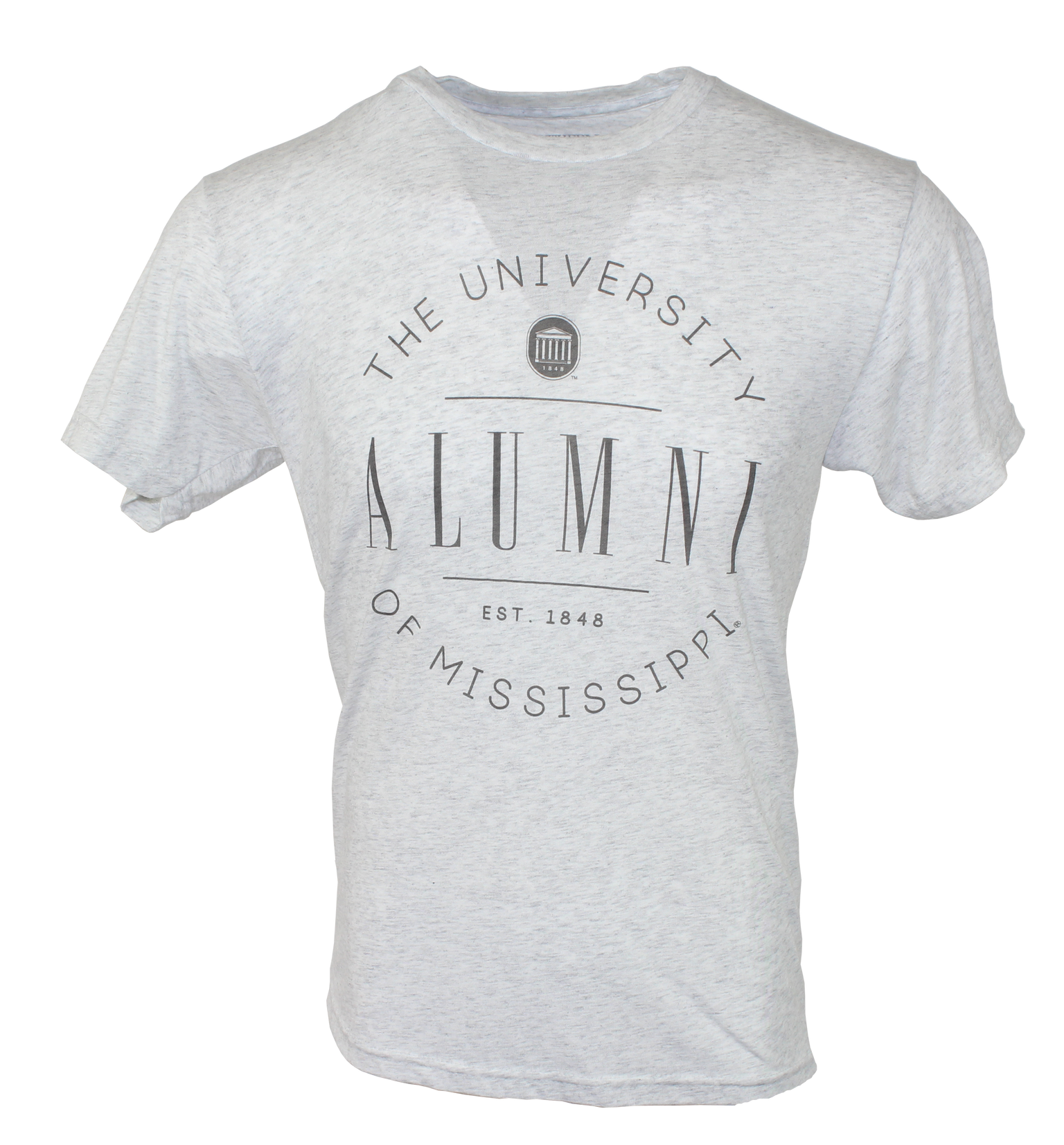 Circle Alumni Heather White Short Sleeve Tee