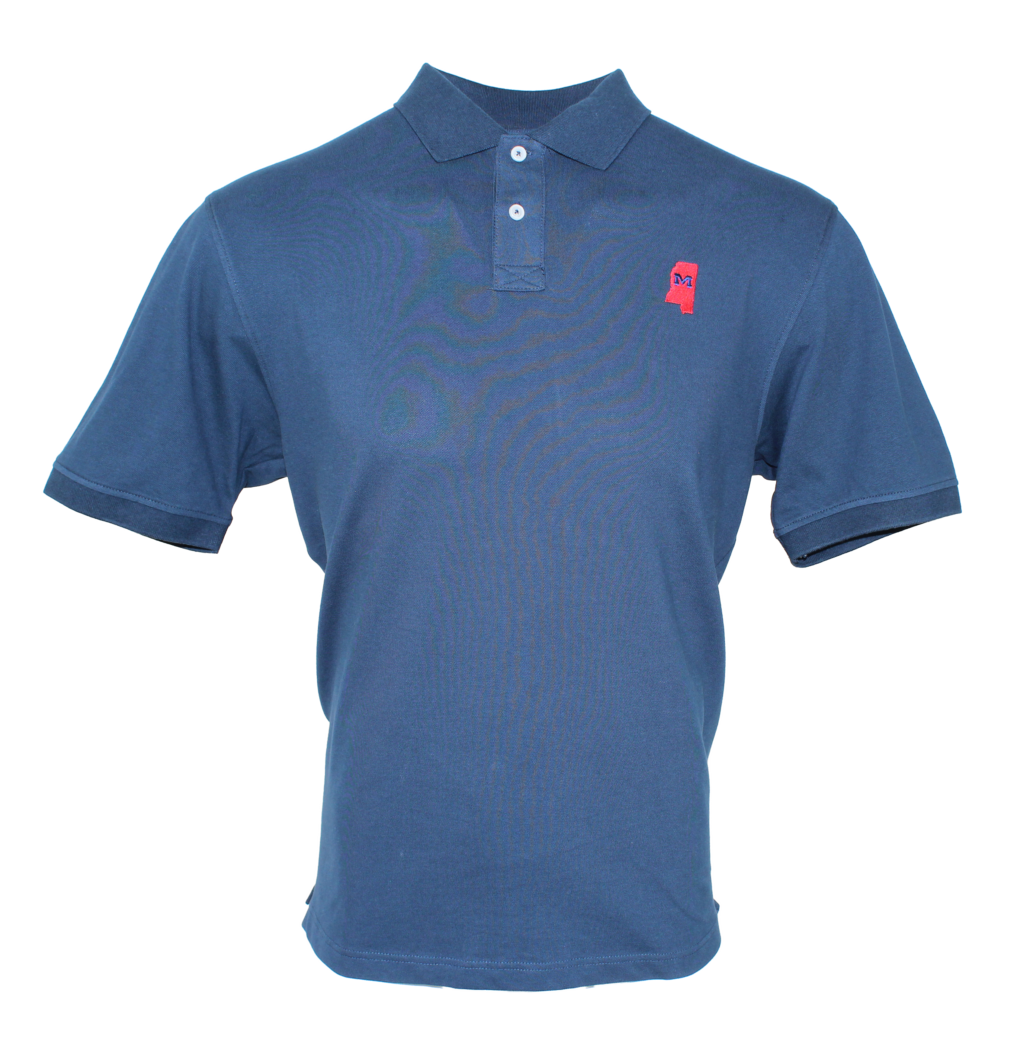 Stretch Pique Navy State  Polo