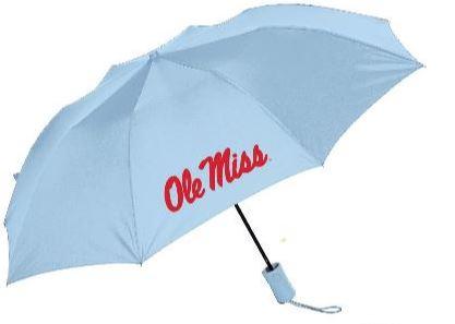 Light Blue Deluxe Folding Umbrella