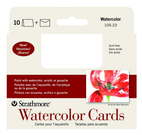 Strathmore Watercolor Cards 10pk Annoucement 4-7/8 x 3.5
