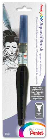 Pentel Aquash Pigment Ink-Filled Brush