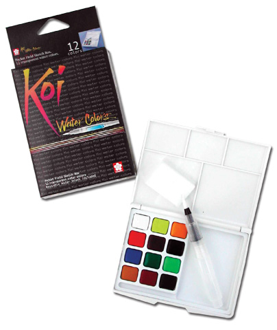 Koi Watercolors 12 Pan Pocket Box