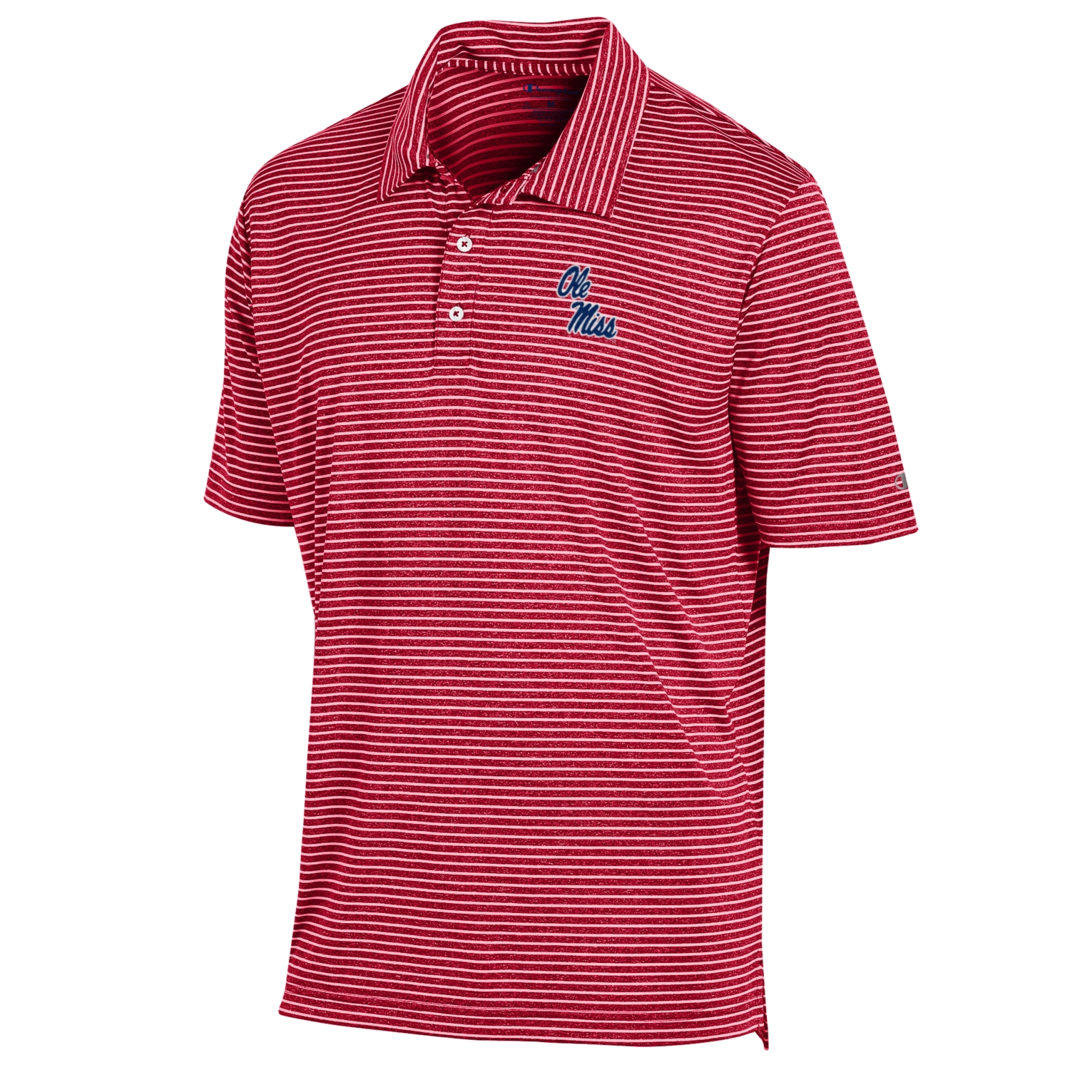 Stadium Stripe Polo Scarlet