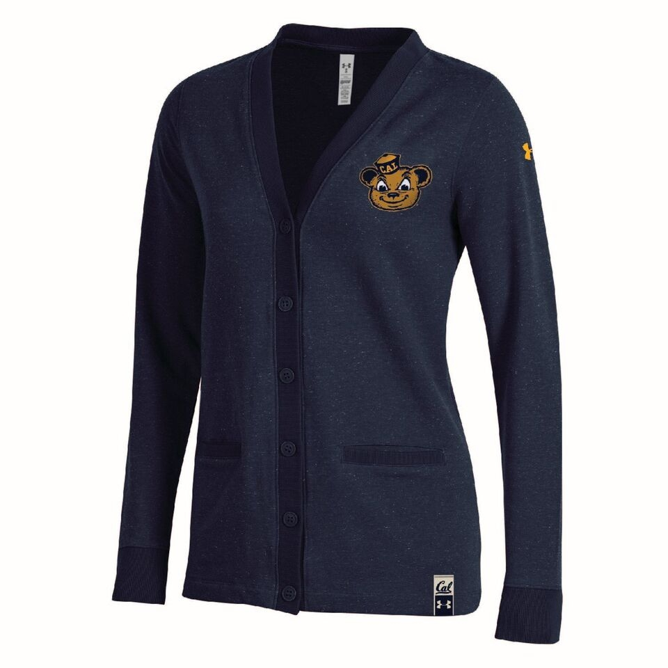 University of California Berkeley Under armour  Womens Iconic Terry Heather Cardigan
