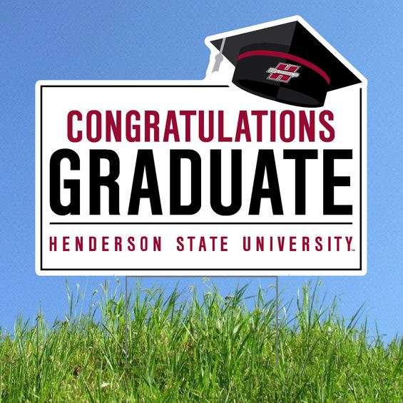 HSU Congratulations Graduate Lawn Sign