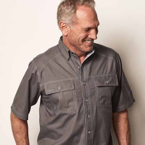 Gun Metal Cotton Shirt