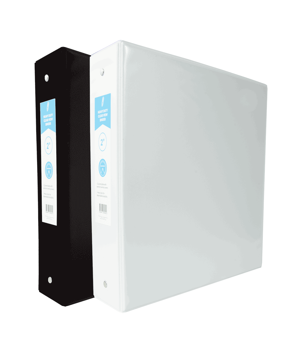Heavy Duty Clear View Binder 2in