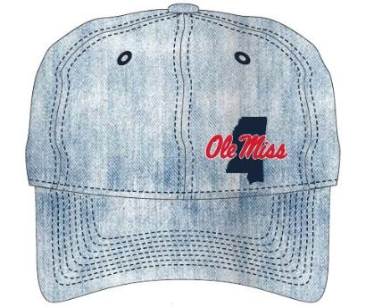 Womens Denim State Outline Hat
