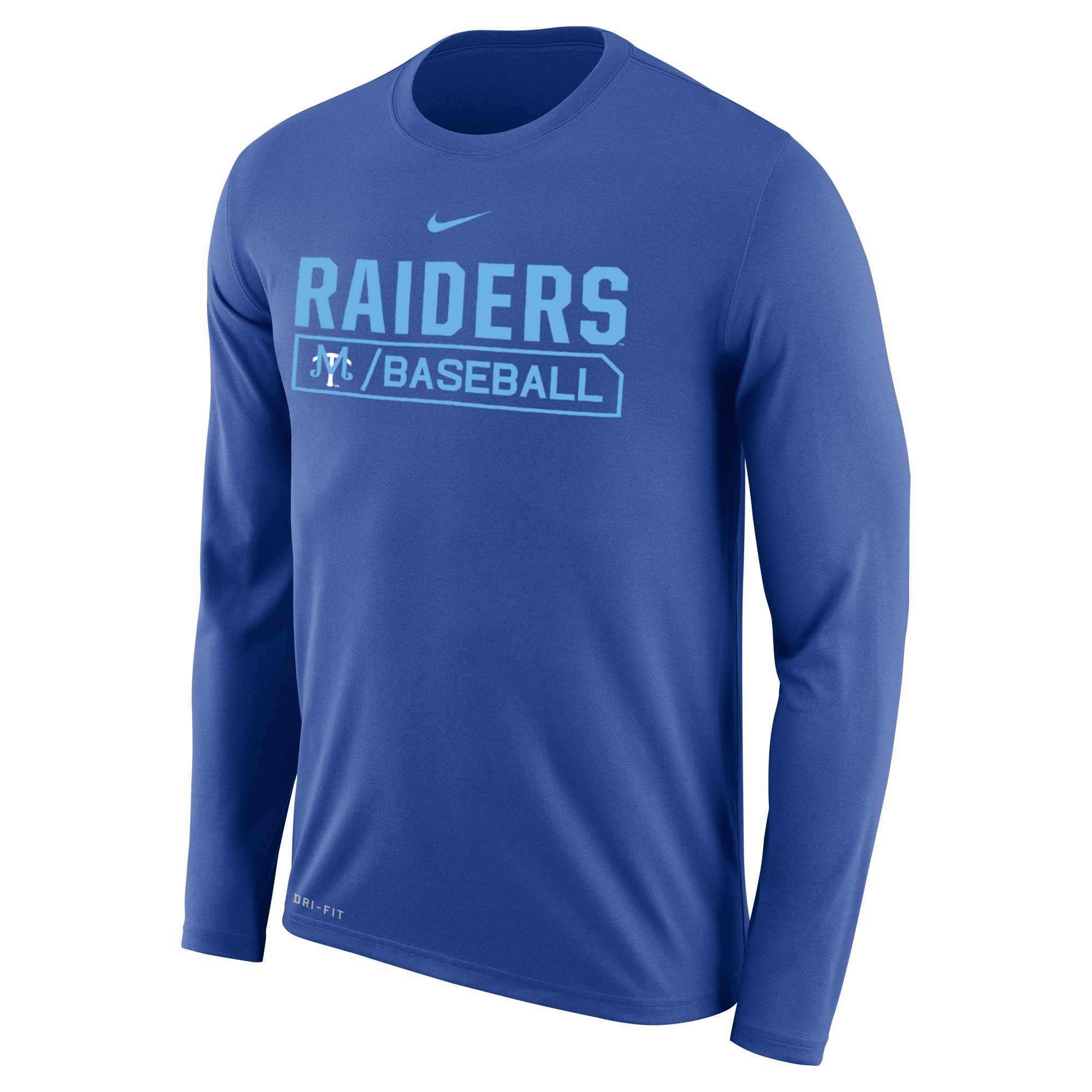 Raiders Baseball Dri Fit Legend Long Sleeve Shirt