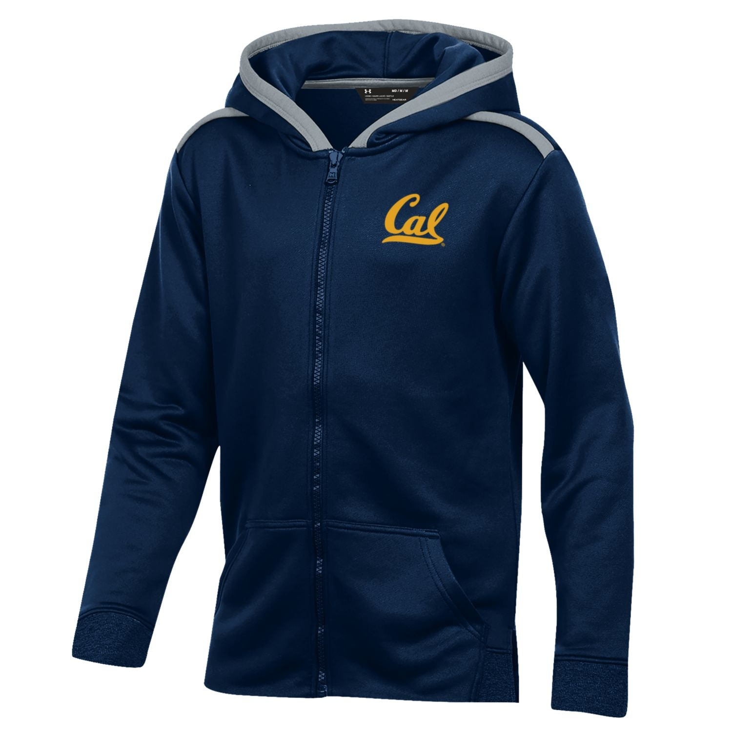 Cal Bears Under Armour Boy's Tech Terry FZ Hood
