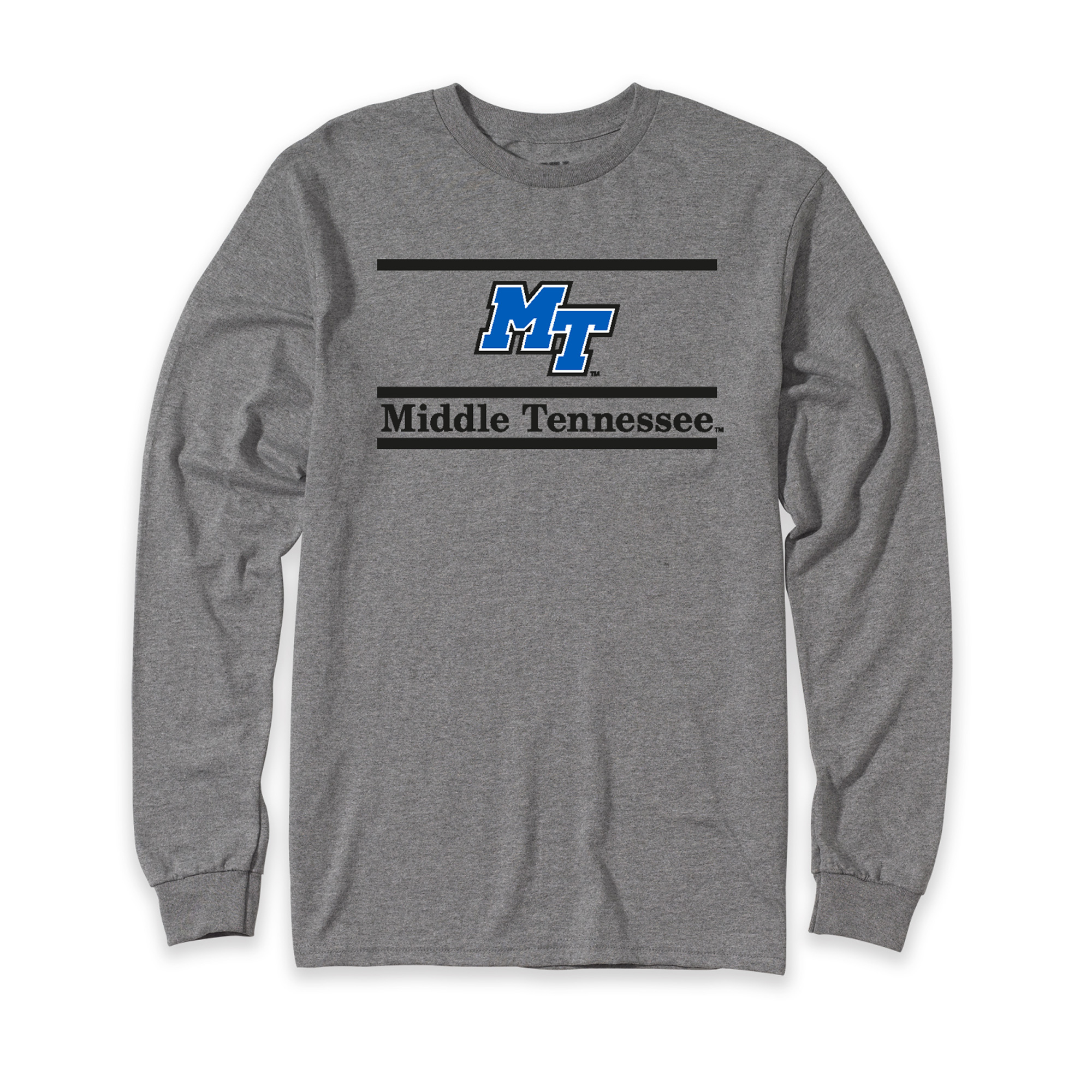 MT Logo Middle Tennessee Bar Design Long Sleeve Shirt