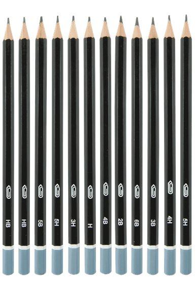 Graded Graphite Pencils 12pk