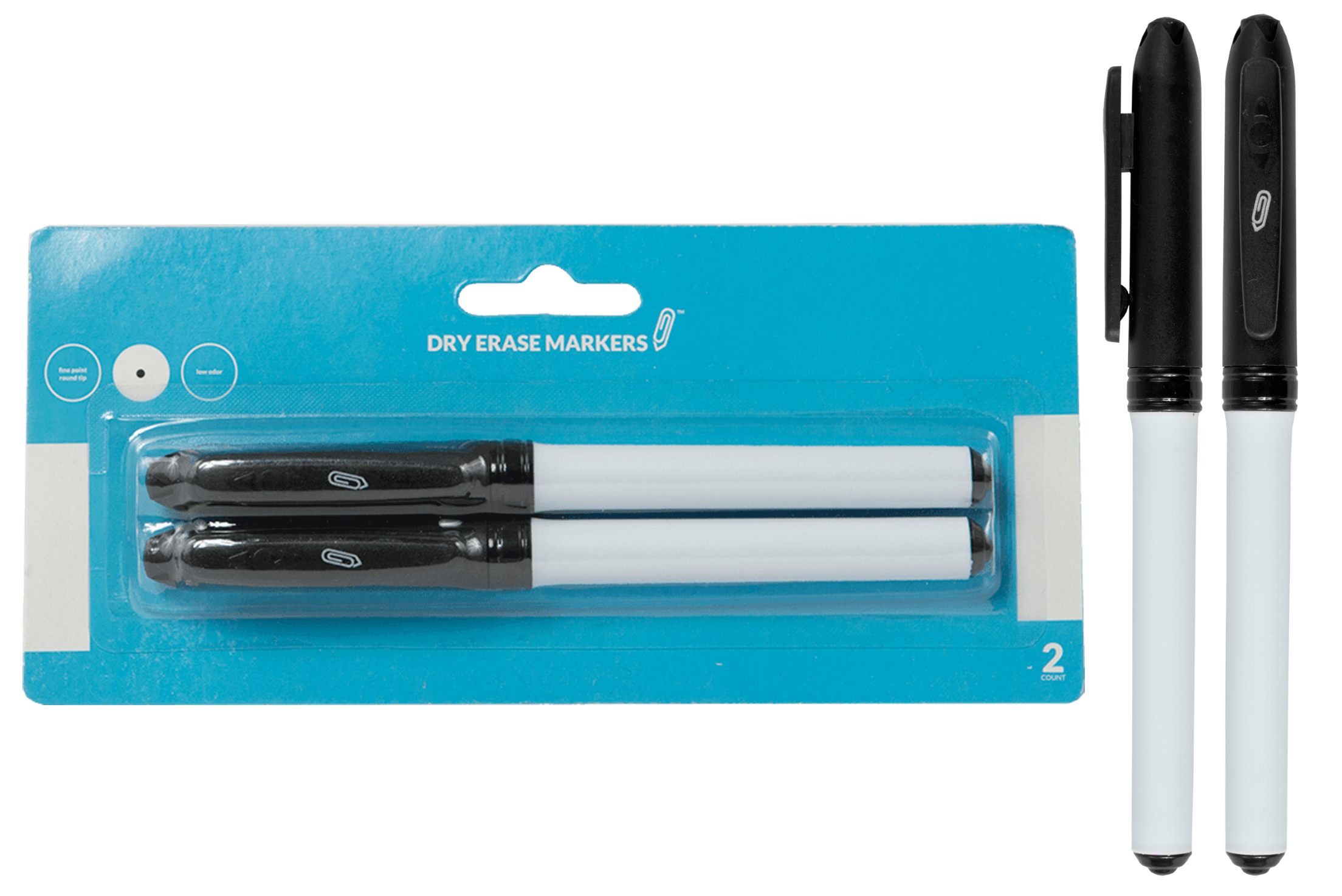 Fine Point Dry Erase Markers 2pk