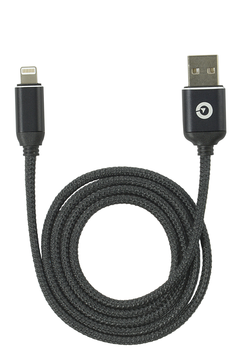 USB to Lightning Cable Black Nylon 3.3ft