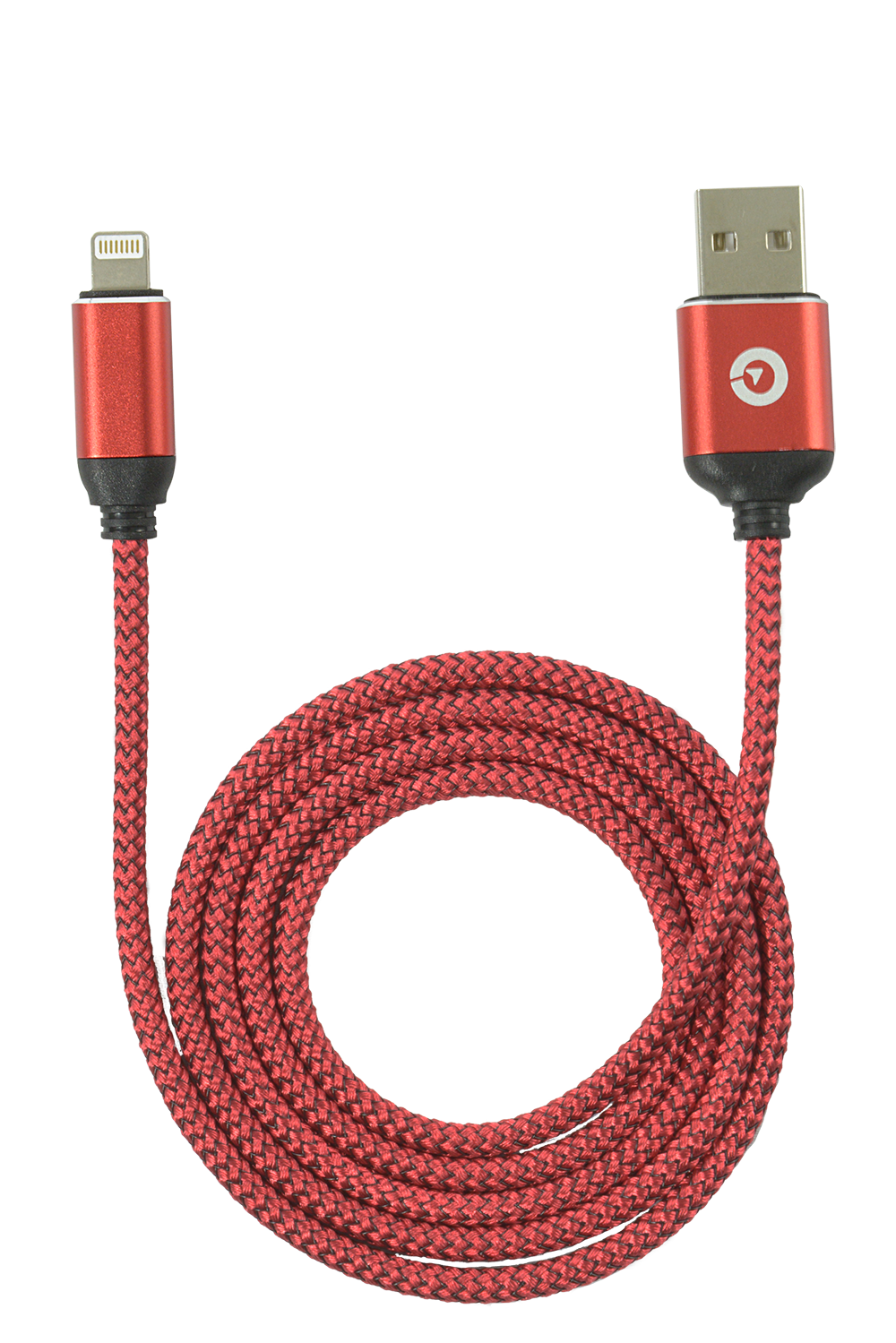 USB to Lightning Cable Red Nylon 3.3ft