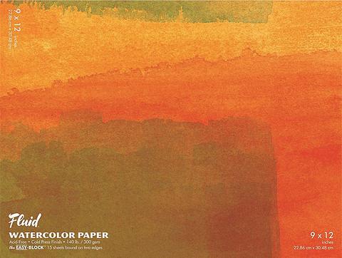 """Fluid Watercolor Block, 9""""x12"""", Cold Press, 140 lb."""