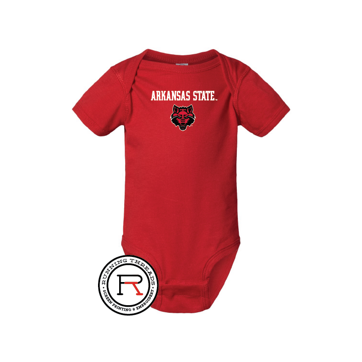 Red Wolves Infant Fine Jersey Bodysuit