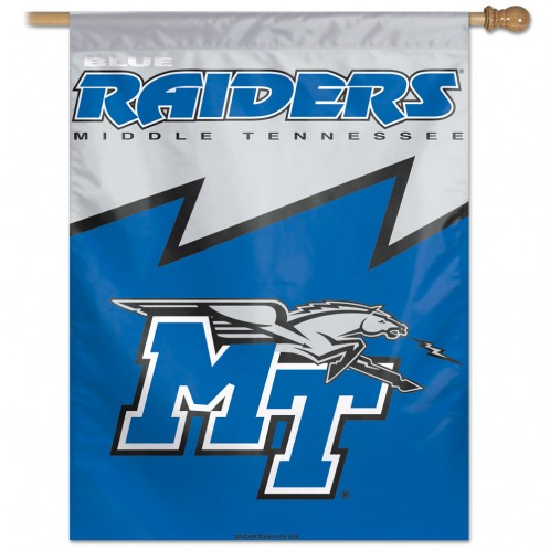 MT Blue Raiders Vertical Flag
