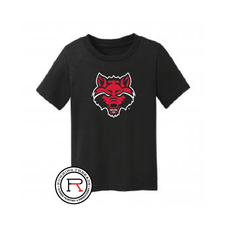 Red Wolves Toddler Core Cotton Tee