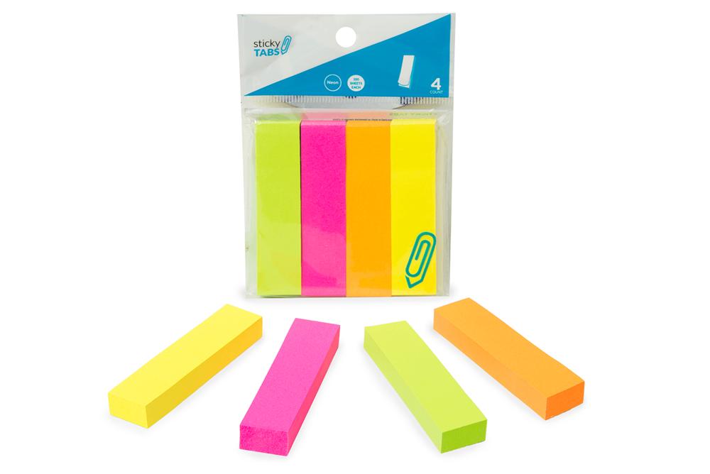 Neon Sticky Pads 4pk