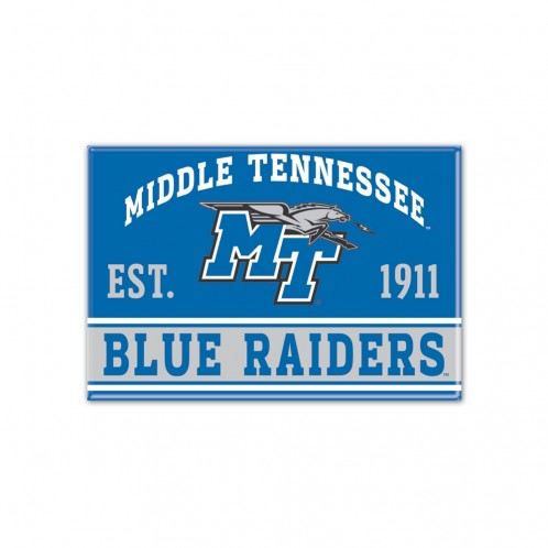 "Middle Tennessee Blue Raiders Est. 1911 2.5"" x 3.5"" Magnet"
