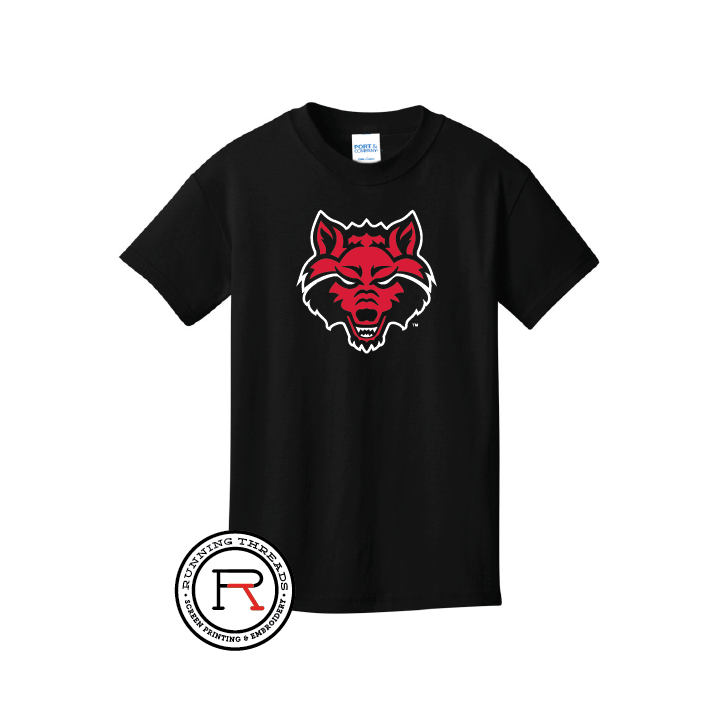 Red Wolves Youth Core Cotton Tee