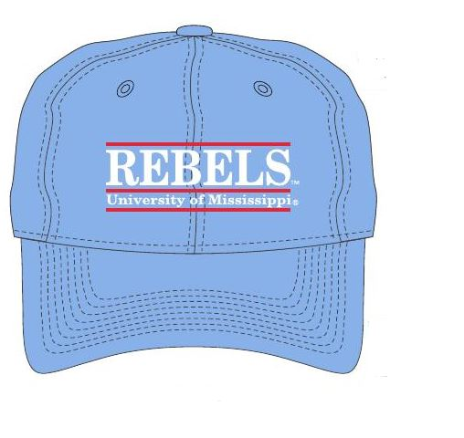 Adjustable Columbia Blue Rebels Bar Hat