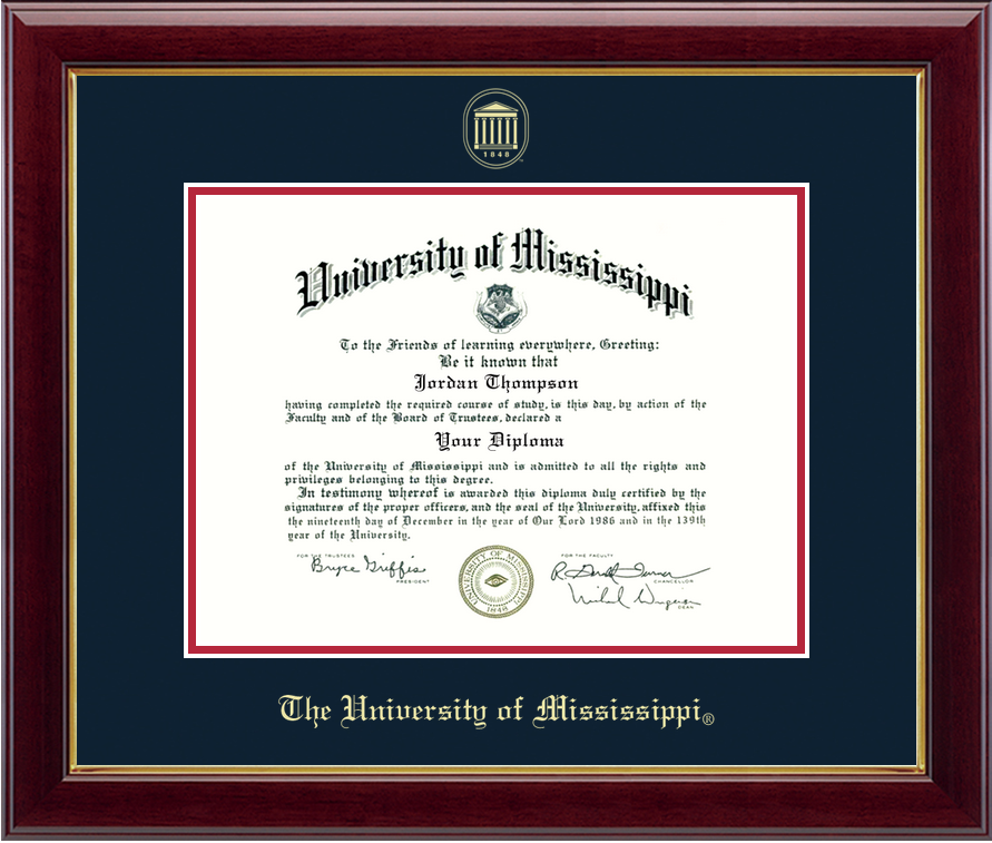 Embossed Gold Diploma Frame