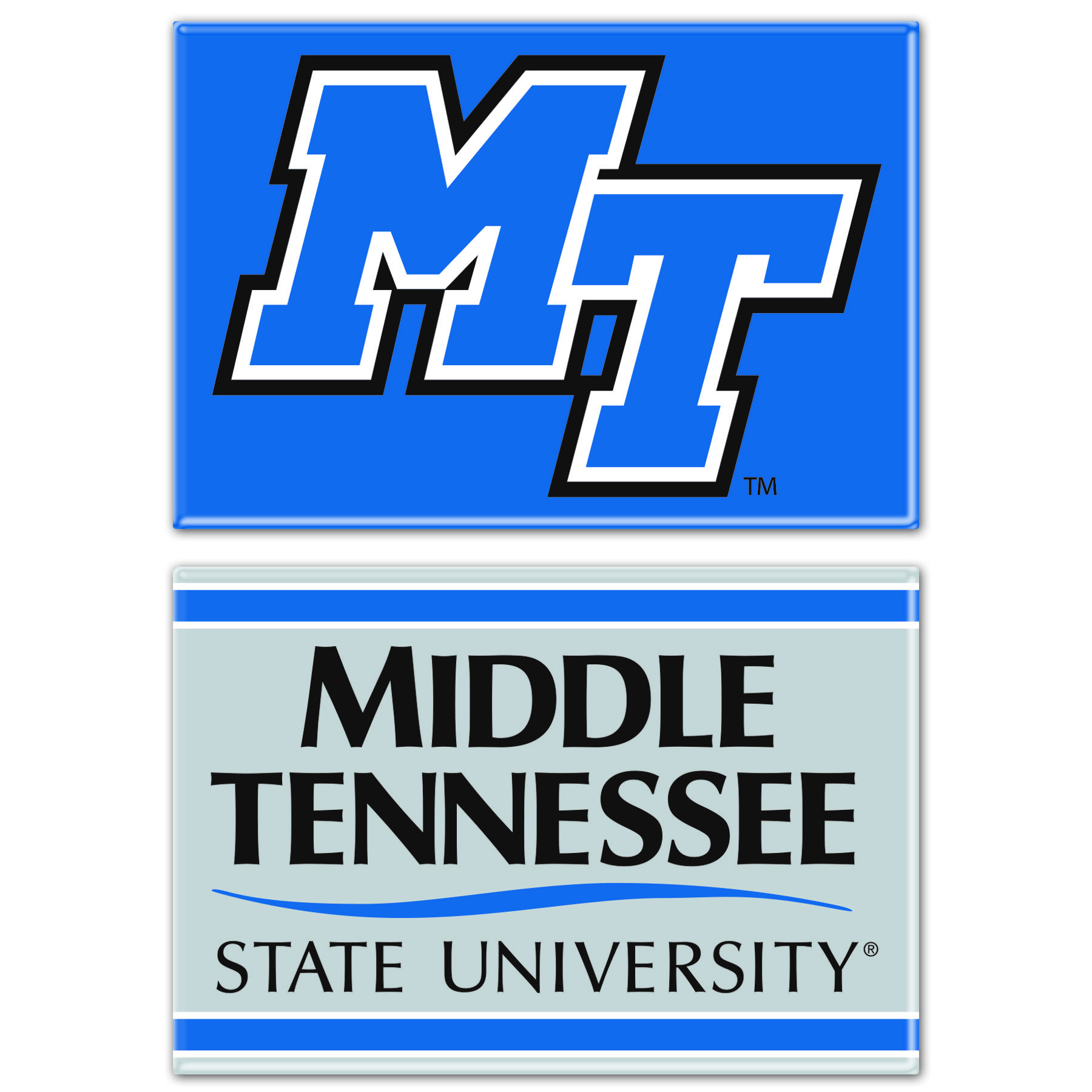 Middle Tennessee MT Logo 2-pack Magnet