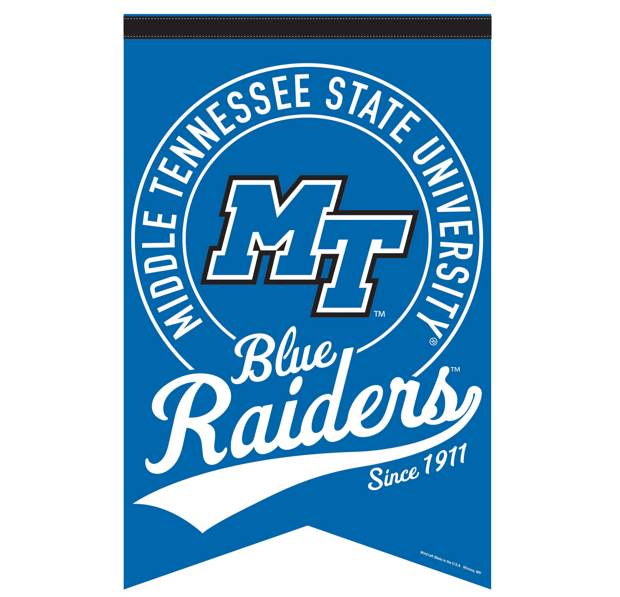 Middle Tennessee Blue Raiders Since 1911 17x26 Dovetail Banner