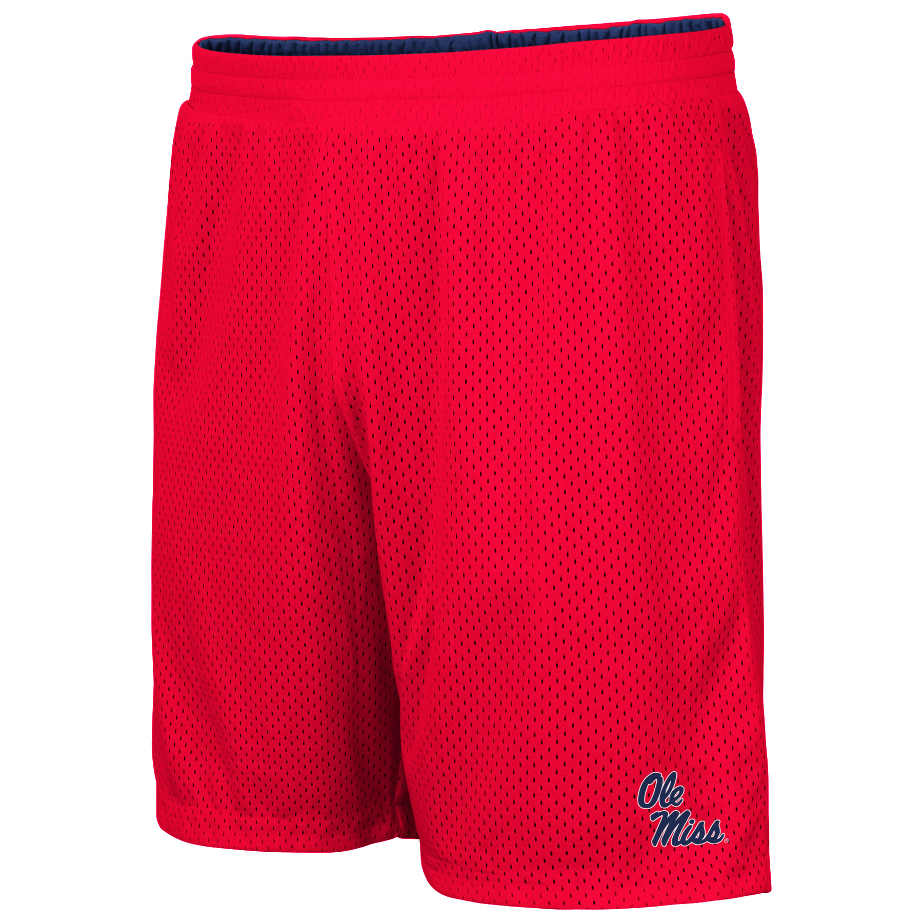 Colosseum Mens Wiggum Reversible Navy/Red Mesh Shorts