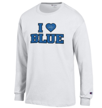 I Heart Blue Long Sleeve Shirt