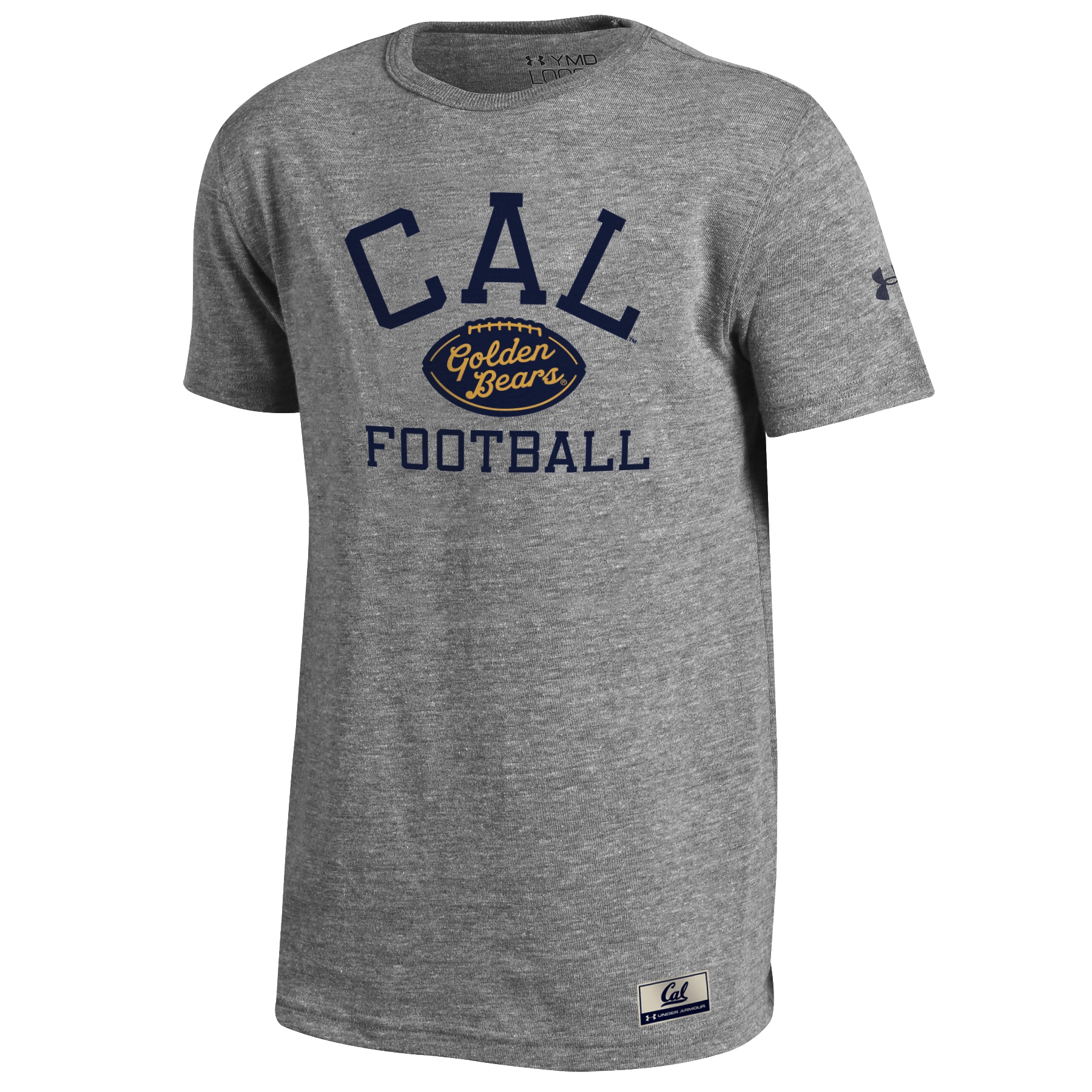 University of California Berkeley Under Armour Youth Iconic Tee −  Cal Berkely True Grey Heather