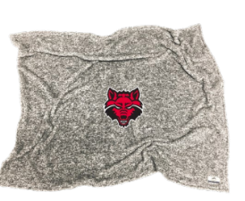 Red Wolves Flecked Double Plush Blanket