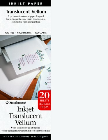 Inkjet Translucent Vellum 20 sheets 8.5x11