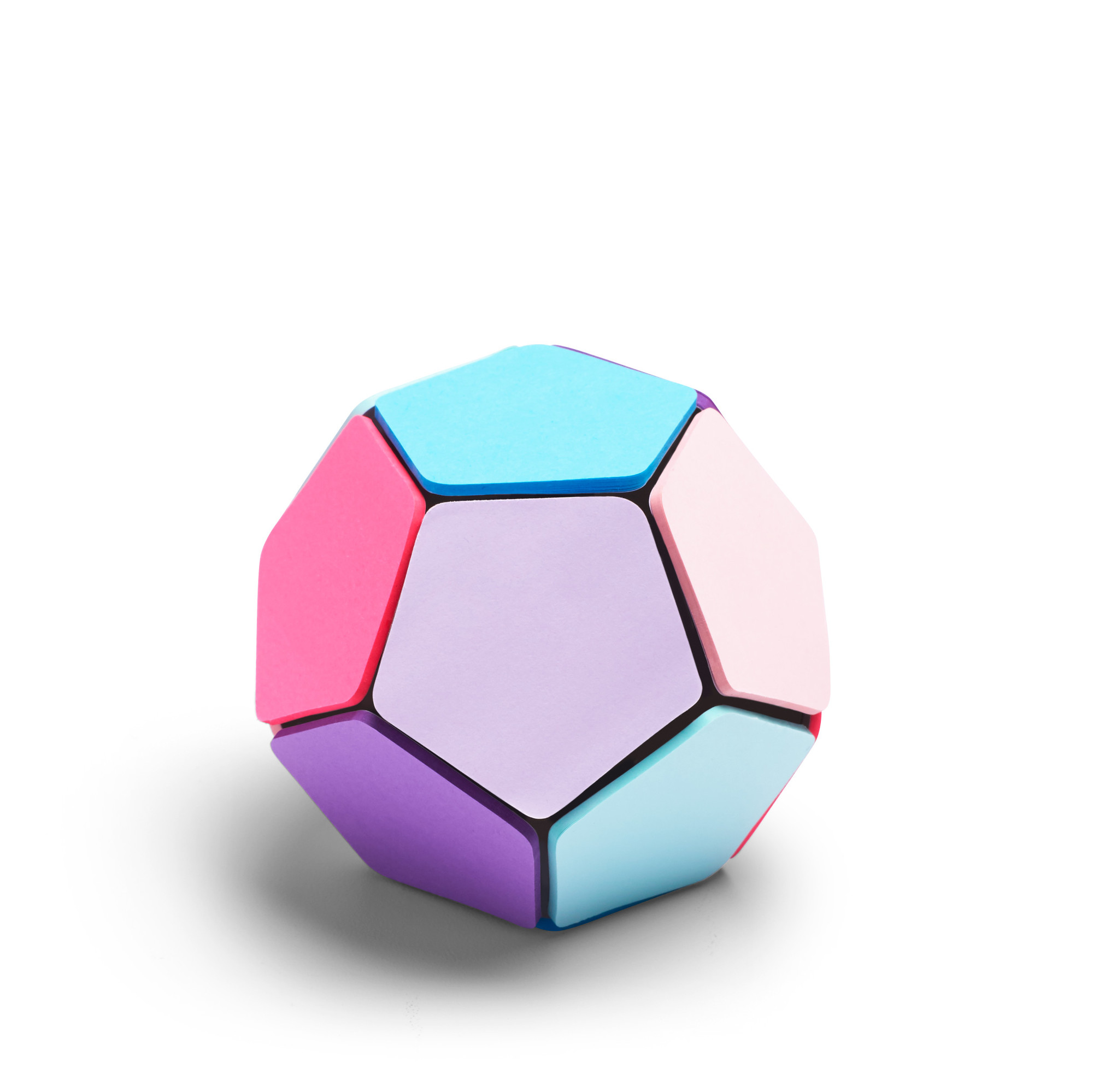 Dodecahedron Sticky Memo Ball