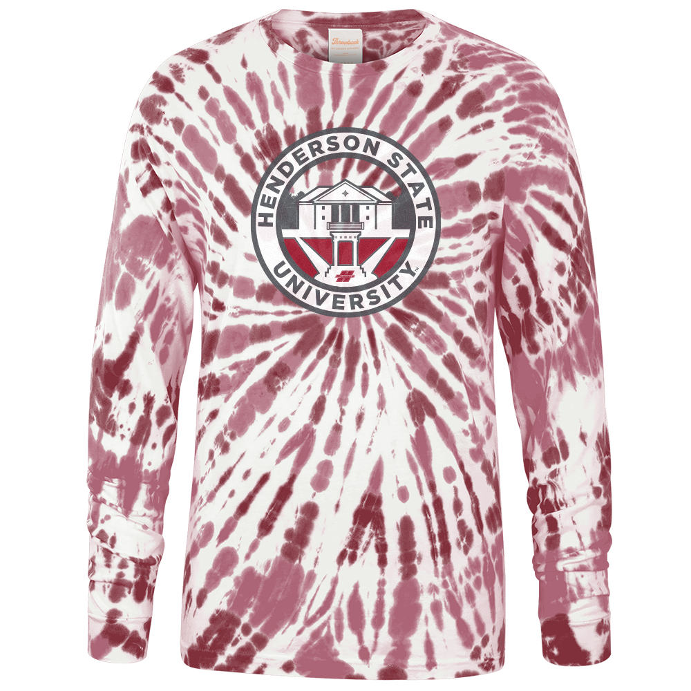 Henderson State University Tie Dye Long Sleeve T-Shirt