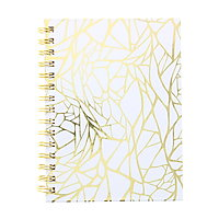Gold Web Wirebound Fashion Journal