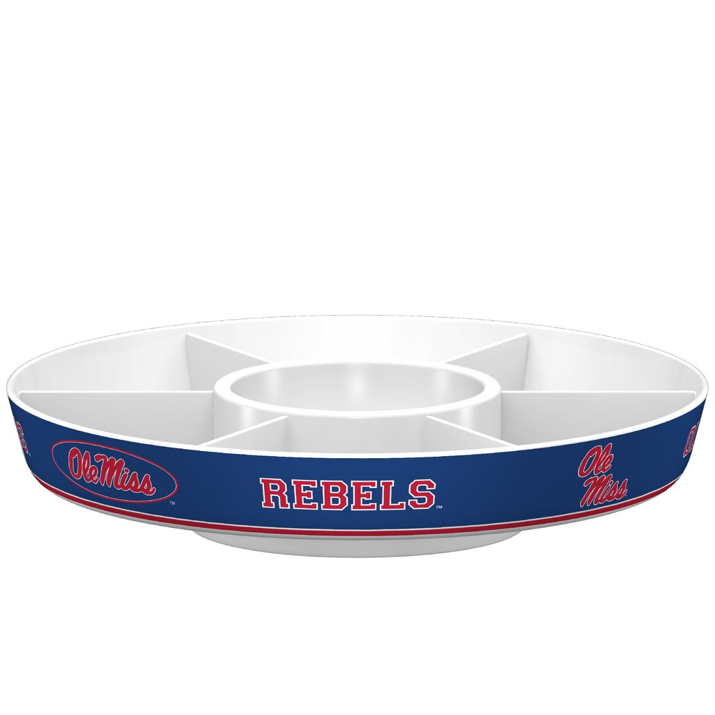 Melamine Party Platter with Dip Bowl and Six Dividers