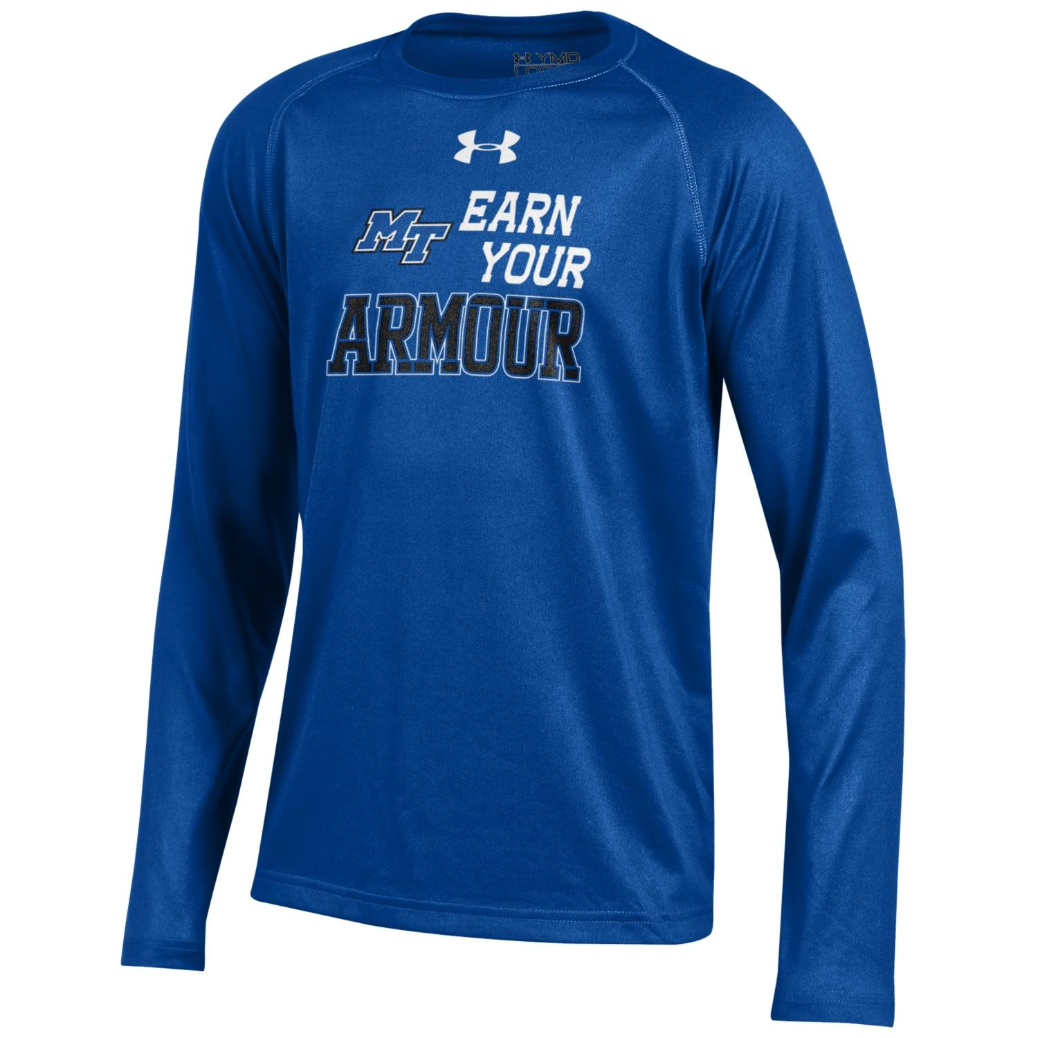 MT Earn Your Armour Youth Long Sleeve Tech Shirt