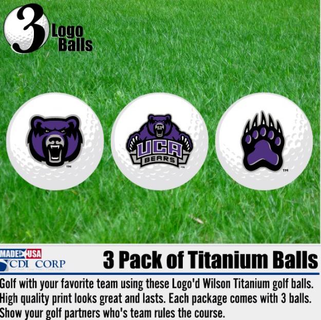 UCA Golf Balls 3pk