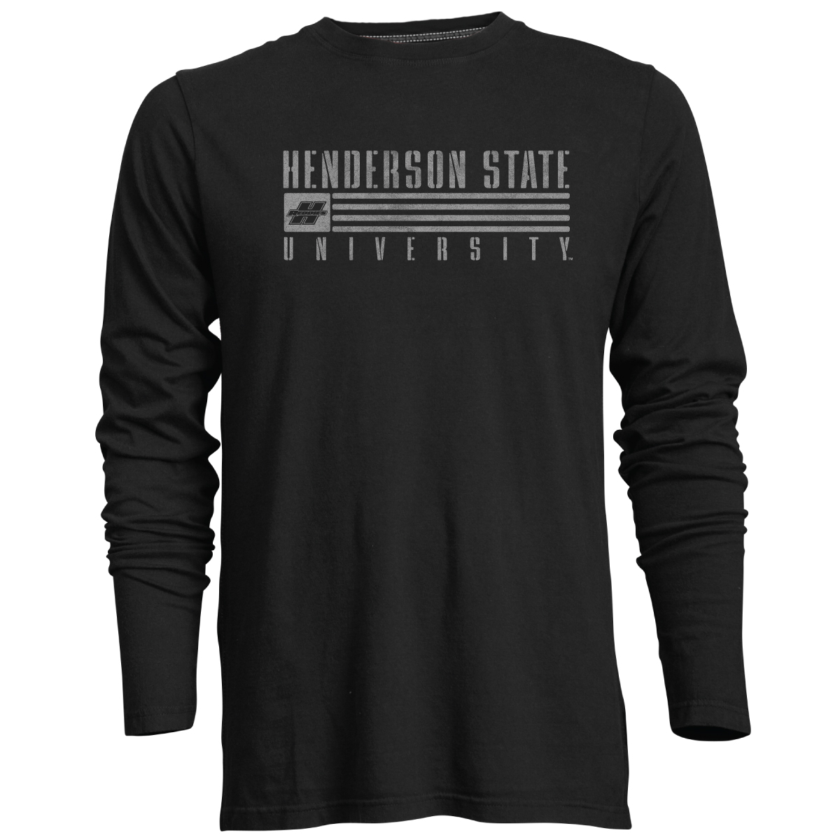Henderson State University Reddies Flag Guru Long Sleeve T-Shirt