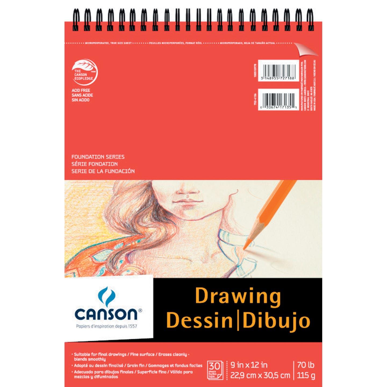 "Foundation Series Drawing Pad, 9""x12"""