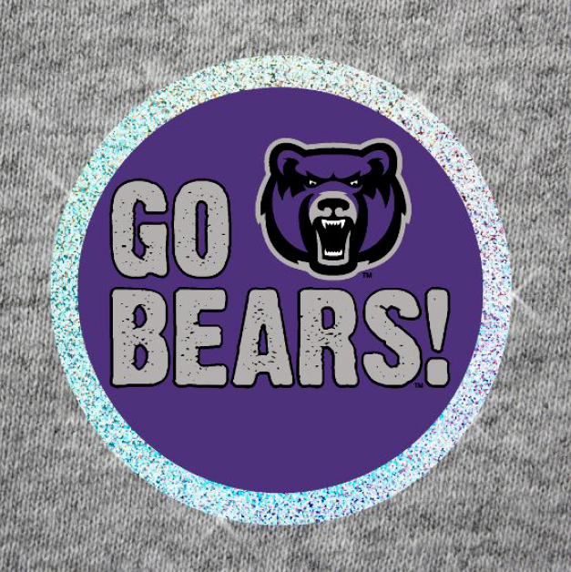 Go Bears Sparkle Button