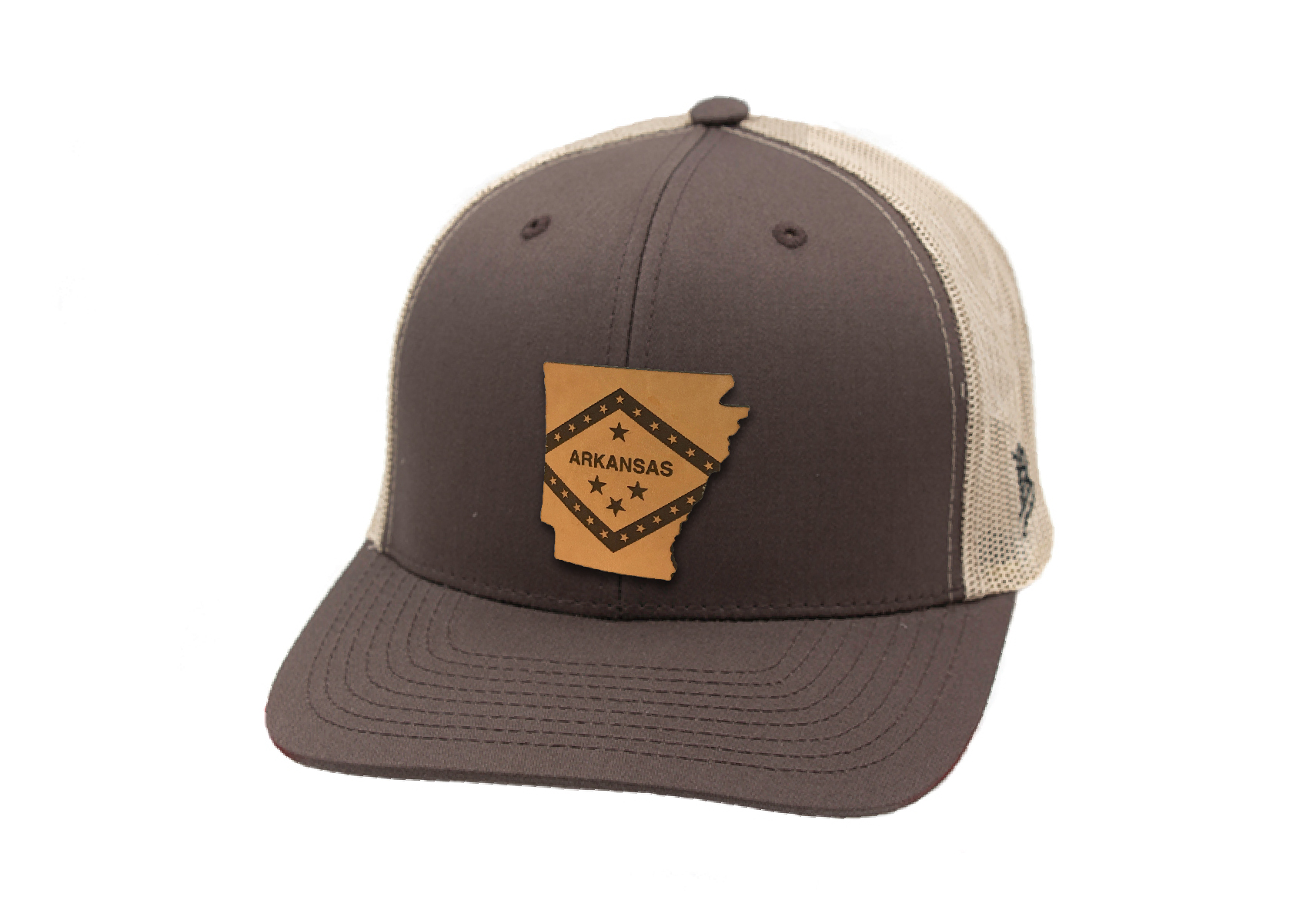 Arkansas Flag Curved Trucker
