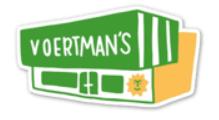 VOERTMAN'S STORE STICKER