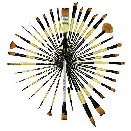 Dynasty Black Gold Short Handle Brushes