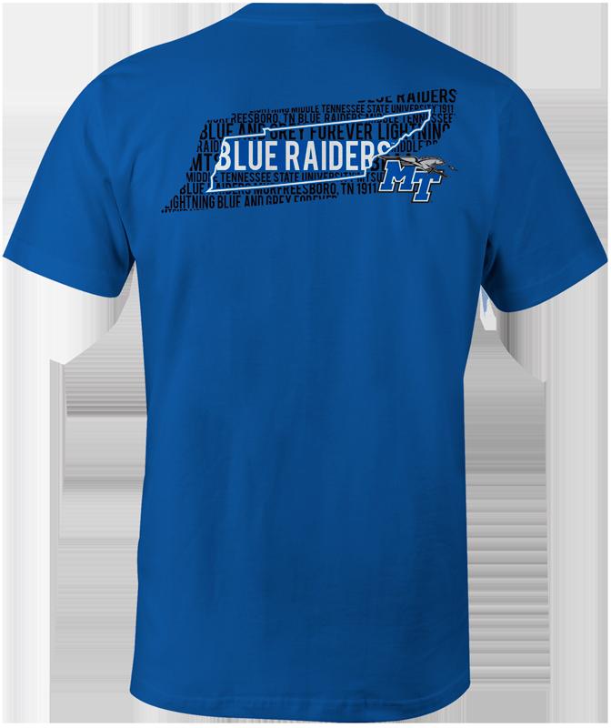 MTSU Blue Raiders State Phrase tee
