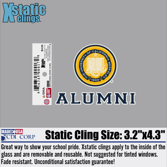 Cal Bears Static Cling Seal Alumni Decal