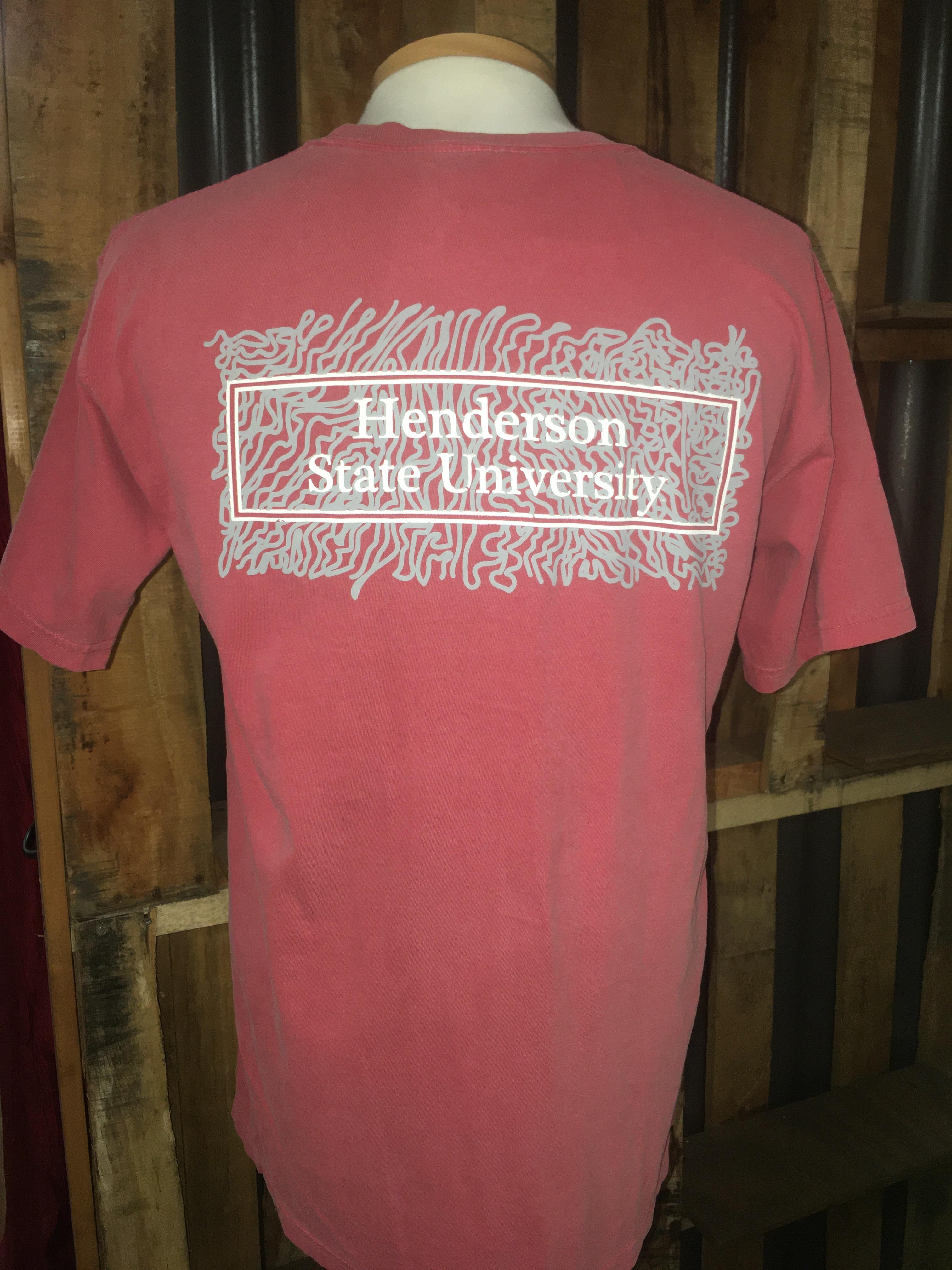 Henderson State University Comfort Colors Scribble Short Sleeve T-Shirt